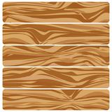 Vector abstract wood texture in flat design. Five wooden boards. Vector abstract wood texture in flat design Royalty Free Illustration