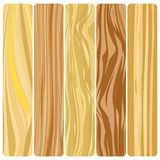 Vector abstract wood texture in flat design. Five wooden boards. Vector abstract wood texture in flat design Stock Illustration