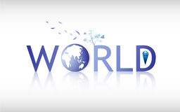 Vector abstract world globe logo Royalty Free Stock Photo