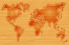 Vector abstract world map Stock Photos