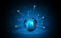 Vector abstract worldwide global technology innovation concept Royalty Free Stock Images