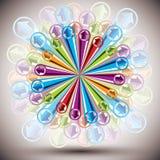 Vector abstracte achtergrond. Stock Afbeelding