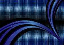 Vector abstracte achtergrond in blauwe kleur Stock Foto