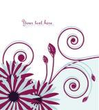 Vector abstracte achtergrond met bloemen vector illustratie