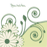 Vector abstracte achtergrond met bloemen. vector illustratie