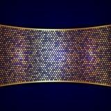 Vector abstracte achtergrond met breed gouden lint Royalty-vrije Stock Foto
