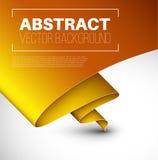 Vector abstracte achtergrond met gevouwen geel document Royalty-vrije Stock Fotografie