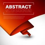 Vector abstracte achtergrond met gevouwen rood document Stock Foto