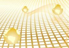 Vector abstracte achtergrond met gouden bol Stock Afbeeldingen
