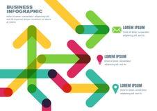 Vector abstracte achtergrond met veelkleurige transparante pijlen Stock Fotografie