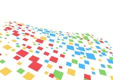 Vector abstracte achtergrond met vierkant Stock Afbeeldingen
