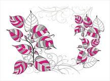 Vector abstracte achtergrond met vogels Royalty-vrije Stock Afbeeldingen