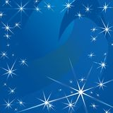 Vector abstracte achtergrond van sterren Stock Foto's