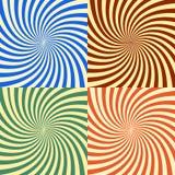 Vector abstracte achtergrond van steruitbarsting eps 10 Stock Afbeelding