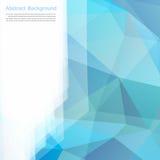 Vector abstracte achtergrond. Veelhoekblauw en kaart Royalty-vrije Stock Afbeeldingen