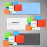 Vector abstracte achtergrond. Vierkant en 3d voorwerp Royalty-vrije Stock Foto