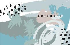 Vector abstracte artistieke affiche, kaart, dekking, vlieger Stock Afbeelding
