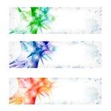 Vector abstracte banner drie Royalty-vrije Stock Afbeelding