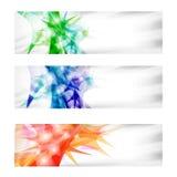 Vector abstracte banner drie Stock Foto's