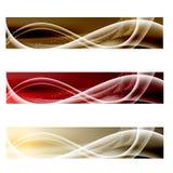 Vector abstracte banner drie Royalty-vrije Stock Afbeeldingen