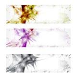 Vector abstracte banner drie Royalty-vrije Stock Foto
