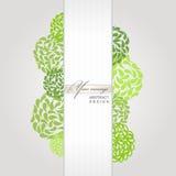 Vector abstracte banner groene achtergrond Stock Foto's