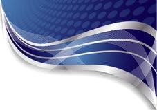 Vector abstracte blauwe achtergrond met cirkel Royalty-vrije Stock Fotografie