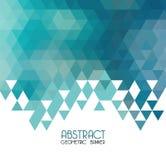 Vector abstracte blauwe geometrische achtergrond malplaatje Stock Fotografie