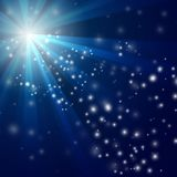 Vector Abstracte blauwe Lichte achtergrond Royalty-vrije Stock Afbeeldingen