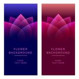 Vector abstracte bloembanners als achtergrond stock illustratie