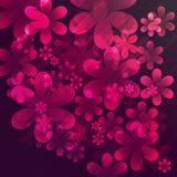 Vector abstracte bloemen Royalty-vrije Stock Afbeelding
