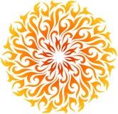Vector abstracte brandmandala Royalty-vrije Stock Afbeeldingen