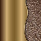 Vector abstracte bronsachtergrond met kromme en folie stock illustratie