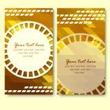 Vector abstracte creatieve adreskaartjes geplaatst malplaatje Stock Foto's