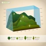 Vector abstracte 3d grafiekinfographics royalty-vrije illustratie