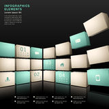 Vector abstracte 3d muurinfographics Royalty-vrije Stock Fotografie