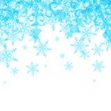 Vector Abstracte de Winterachtergrond van Blauw Stock Afbeeldingen