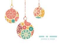 Vector abstracte decoratieve cirkelskerstmis Royalty-vrije Stock Afbeelding