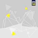 Vector abstracte driehoekenachtergrond Stock Foto's