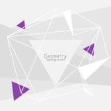 Vector abstracte driehoekenachtergrond Stock Afbeeldingen
