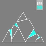 Vector abstracte driehoekenbergen Royalty-vrije Stock Afbeelding