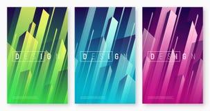 Vector abstracte dynamische geometrische achtergronden, kleurrijke minimaal stock illustratie