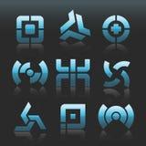 Vector abstracte emblemen stock illustratie