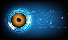 Vector abstracte futuristische oogappel op de achtergrond van de kringsraad Royalty-vrije Stock Afbeelding