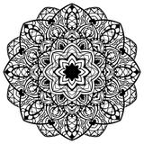 Vector, abstracte, gedetailleerde mandala Stock Afbeelding