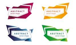 Vector abstracte gekleurde bannervormen Royalty-vrije Stock Afbeelding