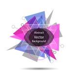 Vector Abstracte geometrische achtergrond stock illustratie