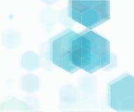 Vector Abstracte geometrische achtergrond Blauwe hexagon vorm Stock Foto