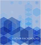 Vector Abstracte geometrische achtergrond Blauwe hexagon vorm stock illustratie