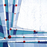 Vector abstracte geometrische achtergrond, de illustratie van de technostijl Royalty-vrije Stock Afbeelding